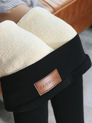Women Warm Pants Winter Skinny Thick Velvet Wool Fleece