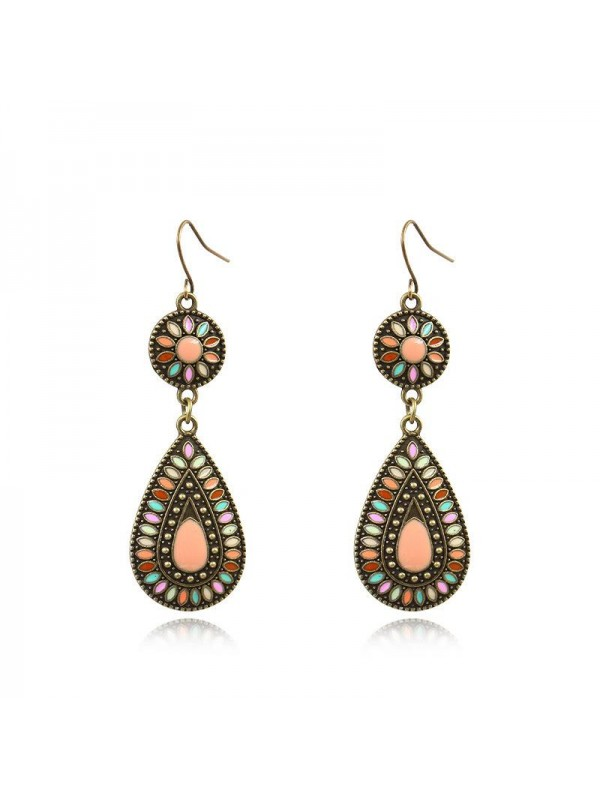 Ethnic style retro earrings