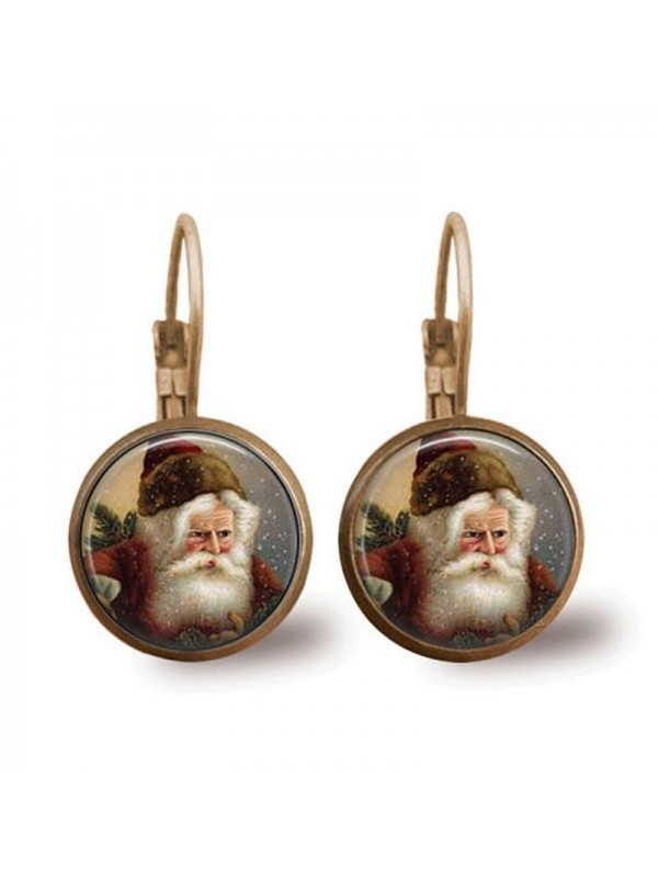 Santa Claus Time Gem Earrings