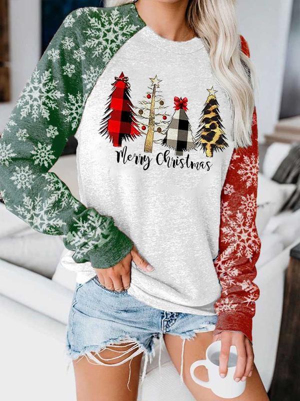 Women's Merry Christmas print sweatshirt