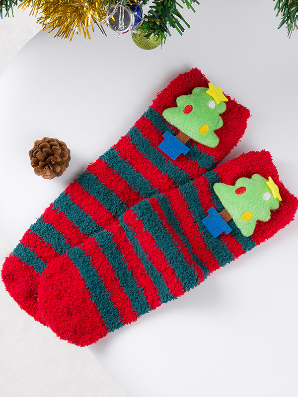 Women's Christmas Christmas Towel Home Socks