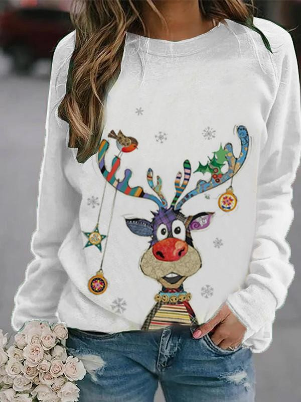 Women's Christmas Print Sweatshirt