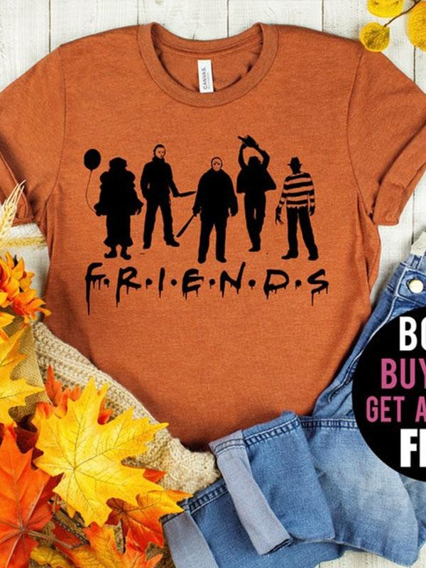 Halloween Friends Balloon TShirt