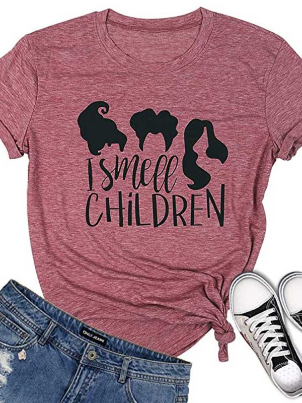 Women's I Smell Children Witch Print TShirt